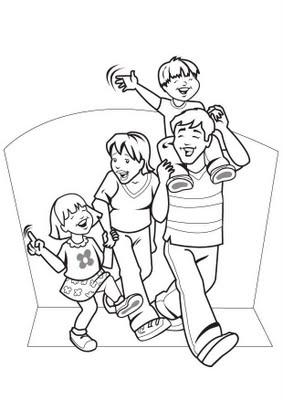 Imagens Da Familia Para Colorir Educacao De Infancia
