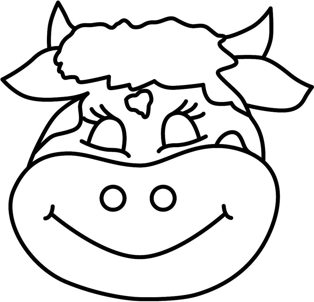 Mascara De Vaca Para Colorir Educacao De Infancia
